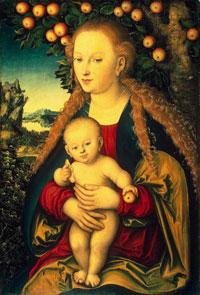 Мадонна с младенцем (Лукас Кранах)
