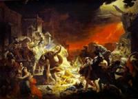 Картина Последний день Помпеи работа выпускника Академии Художеств Брюллова К.П