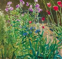 В саду. Звенигород (Я.Д. Ромас, 1959 г.)