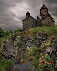 Древний монастырь в горах Армении