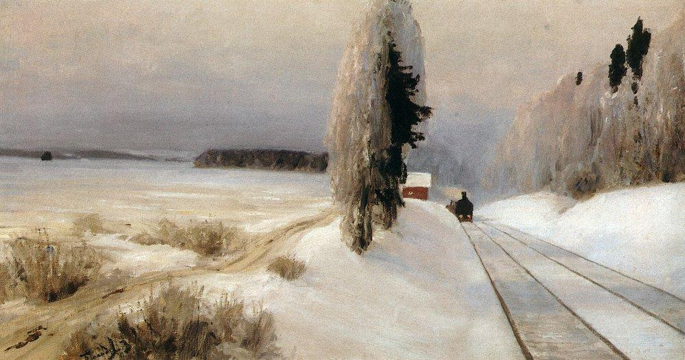 Железная дорога близ станции Тарусская
