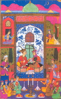 Хосров и Ширин слушают рассказы