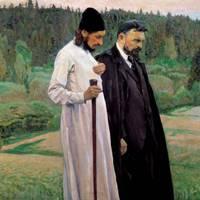 Портрет П.А.Флоренского и С.Н.Булгакова
