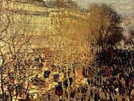 Бульвар капуцинок в Париже (Клод Моне)