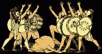 """Настенная фреска """"Семеро против Фив клянутся над жертвенным животным"""""""