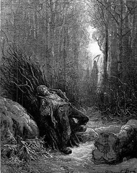 Иллюстрация к басне Смерть и Лесоруб (Г. Доре)