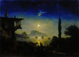 Лунная ночь в Крыму (И.К. Айвазовский)