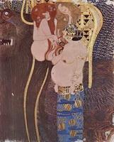 Фриз Бетховена (фрагмент, Г. Климт, 1902 г.)