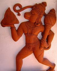 Терракотовая скульптура (Хануман)