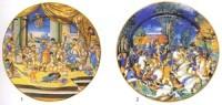 Сюжет Бракосочетание Александра и Роксаны взят с гравюры по Рафаэлю