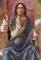 Христос на троне (Б. Виварини, 1450 г.)