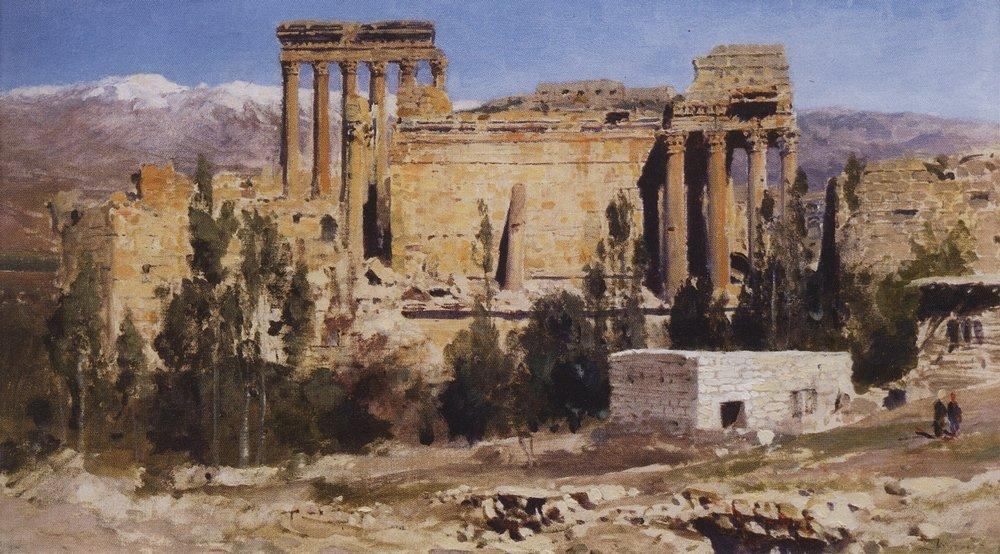 Баальбек. Развалины храма Юпитера и храма Солнца
