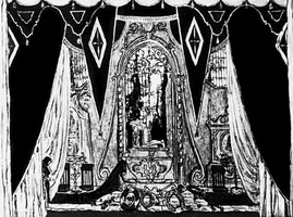 Эскиз декорации к опере Каменный гость