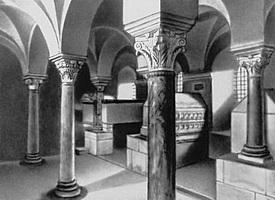 Крипта церкви Сен-Поль в Жуаре (7 в.)