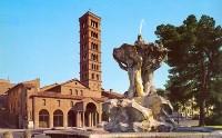 Площадь Бокка. p.za Bocca della Verita. и церковь Санта Мария ин Космедин