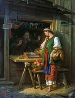 В лавке (С.И. Грибков, 1882 г.)