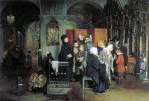 Перед исповедью (А.И. Корзухин)