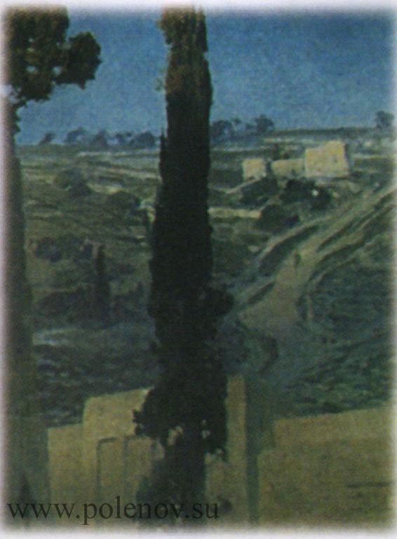 Пейзаж, написанный на заднем плане