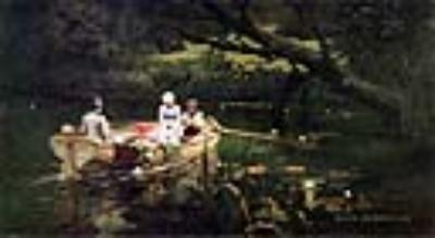 На лодке. Абрамцево. 1880
