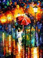 Красный зонт (Л. Афремов)