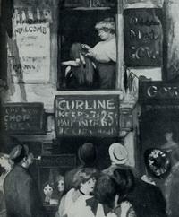 Окно парикмахерской (Дж. Слоун, 1907 г.)