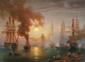Возвращение в Севастополь эскадры Черноморского флота после Синопского боя