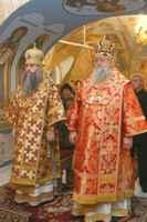 Священник,одетый в Саккос