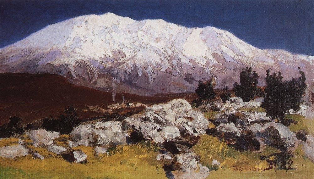 У подножия горы Хермон. 1882