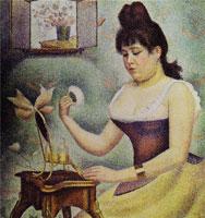 Пудрящаяся женщина (Ж. Сёра)