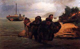 Бурлаки, идущие вброд (Илья Ефимович Репин)