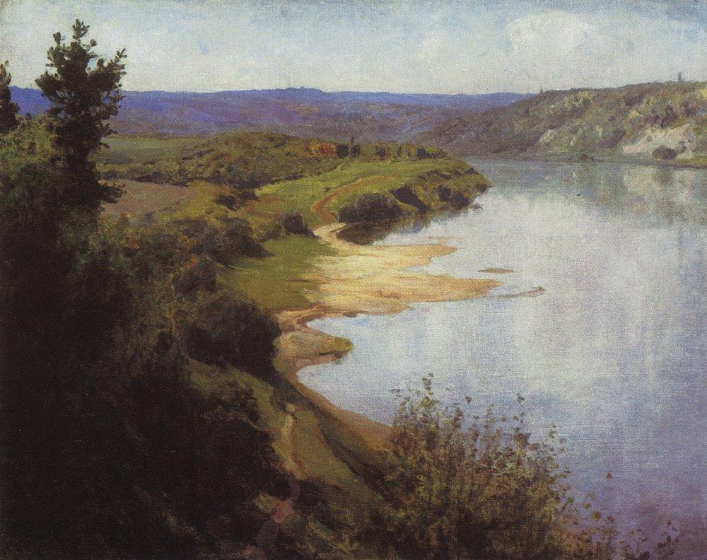 Вид на Оку реку с восточного берега