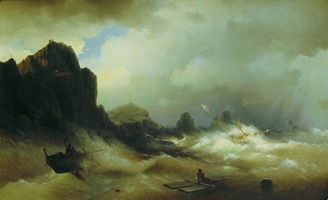 Кораблекрушение (И.К. Айвазовский, 1843 г.)