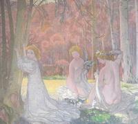 Фигуры в весеннем пейзаже (М. Дени, 1897 г.)