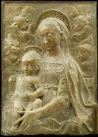 А. Росселино. Мадонна с младенцем. Мраморный рельеф. Эрмитаж.