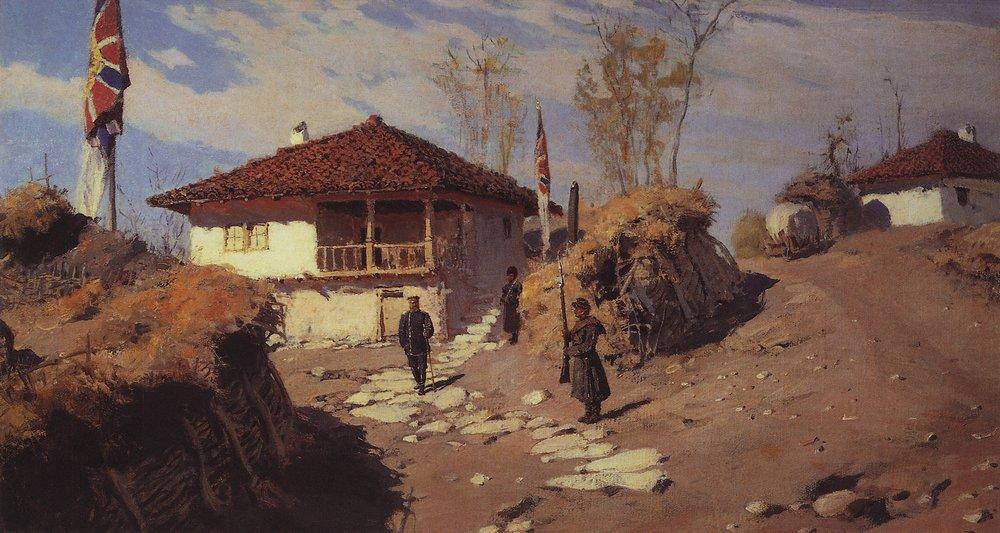 Главная квартира командующего Рущукским отрядом в Брестовце