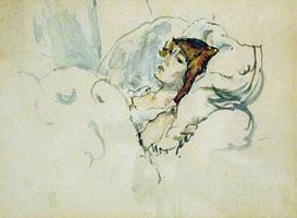 Эрмина в постели (Жюль Паскин)