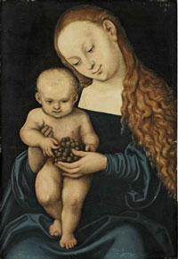 Мадонна с гроздью (Л. Кранах)