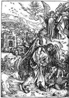 """Фрагмент картины Дюрера """"Апокалипсис"""" - """"Ангел с ключом от бездны"""""""