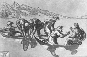 Чудесный улов (Уго да Карпи, ок. 1518 г.)