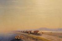 Волы на перешейке (И.К. Айвазовский, 1860 г.)