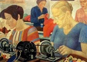 Работницы рекордсменки (П. Филонов)