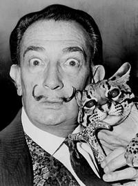 С. Дали с другом-леопардом (1965 г.)