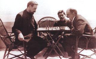 А.Богданов, М. Горький, В. Ленин