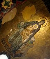 Часть Византйских фресок в храме Святой Софии