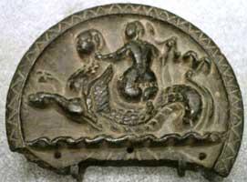 Индо-греческое изображение Нереиды верхом на ките