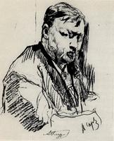 Портрет А.К. Глазунова (В. Серов, 1899 г.)