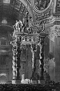 Балдахин над алтарём собора св. Петра