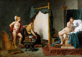 Апеллес, рисующий Кампаспу (Жак Луи Давид)