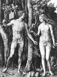 Адам и Ева (гравюра по металлу)