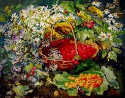 Натюрморт с малиной (М. Азаркина)